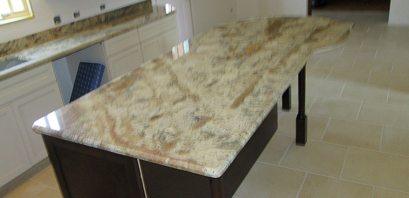 Granite Kitchen Countertop W 4 Backsplash Amp Custom Bevel