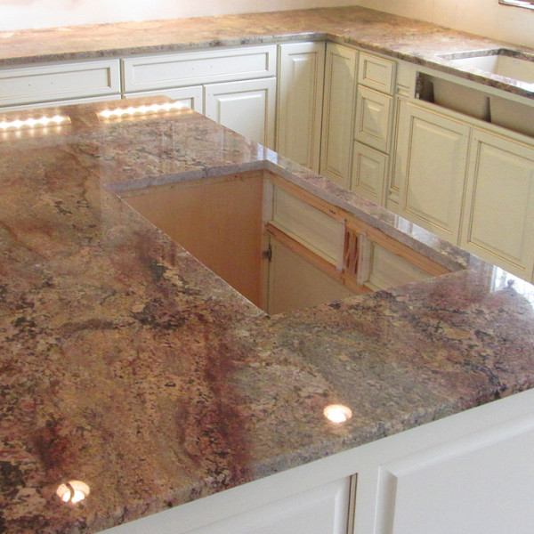 Polished Granite Red/Gold Kitchen ...