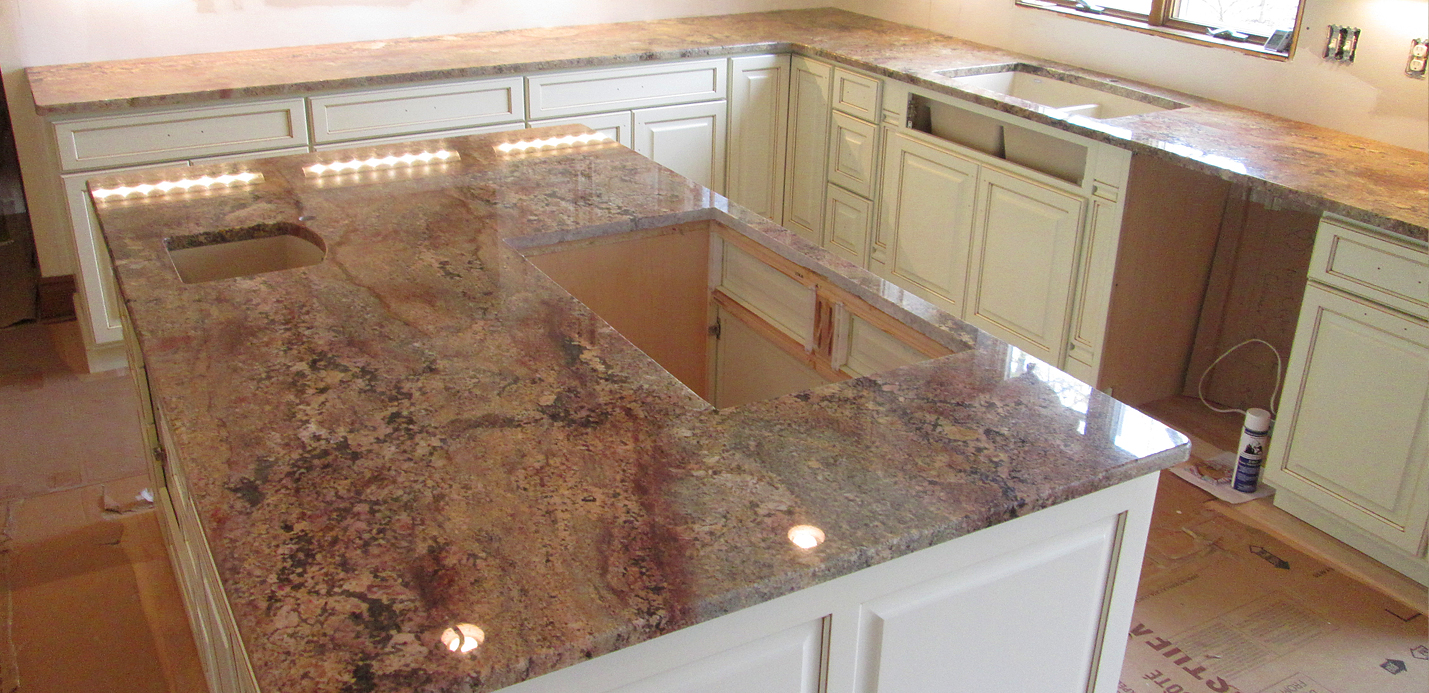 Granite Kitchen Countertop & Island w/ 3/8″ Top Radius Edge ... on best sinks for granite countertops, kitchen backsplash ideas for granite countertops, kitchen granite countertop undercounter sinks, kitchen colors for granite countertops, kitchen sink countertop combination, kitchen countertops and sinks, kitchen sinks for garbage disposal, top mount sinks for granite countertops, kitchen faucets, composite granite countertops, stainless steel sinks for granite countertops, bathroom sink with granite countertops, kitchen sinks with granite counters,