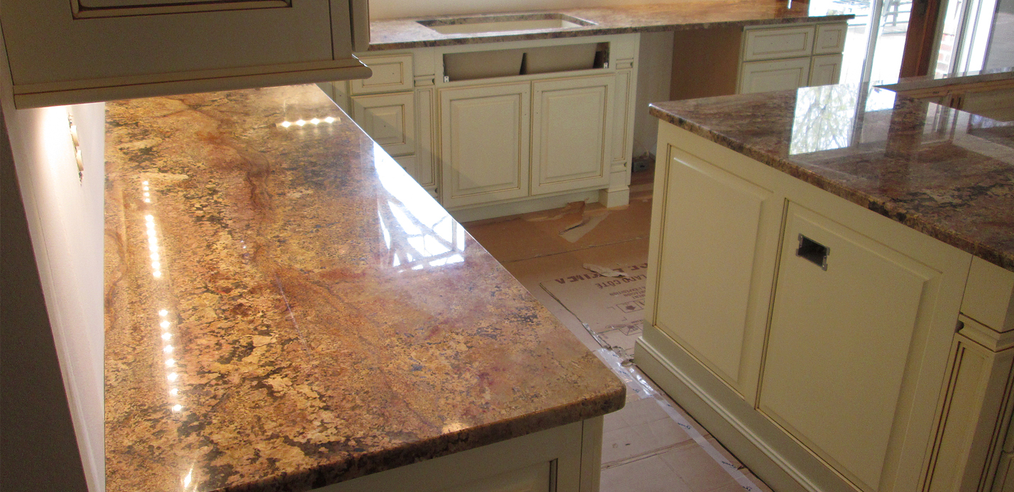 Granite Kitchen Countertop Amp Island W 3 8 Top Radius Edge Crafted Countertops Wisconsin