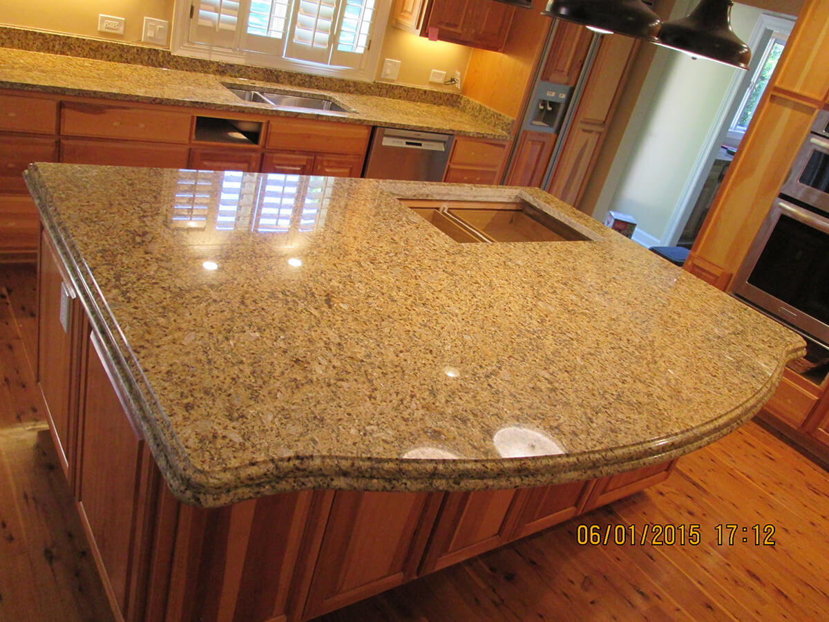 Granite Kitchen Countertop & Island – Crafted Countertops ...