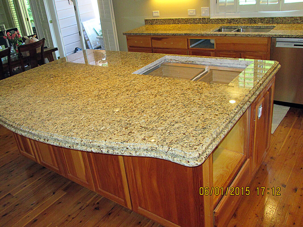 Granite Kitchen Countertop & Island ? Crafted Countertops Wisconsin ...