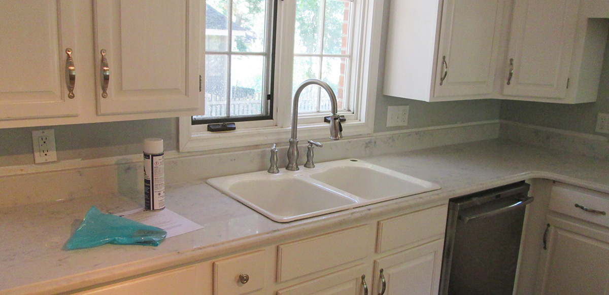 Quartz Kitchen Countertop W/ OGEE Edge